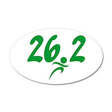 Green 26.2 Marathon 22x14 Oval Wall Peel