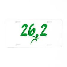 Green 26.2 Marathon Aluminum License Plate