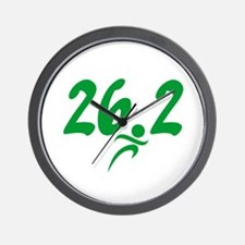 Green 26.2 Marathon Wall Clock