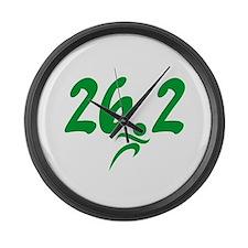 Green 26.2 Marathon Large Wall Clock