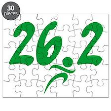 Green 26.2 Marathon Puzzle