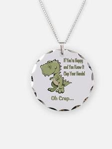 Happy TRex Necklace