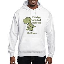Happy TRex Hoodie Sweatshirt