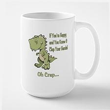 Happy TRex Large Mug