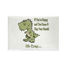 Happy TRex Rectangle Magnet