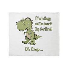 Happy TRex Throw Blanket