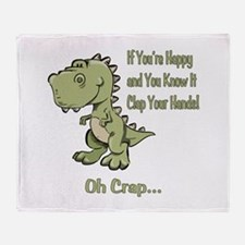 Happy TRex Throw Blanket