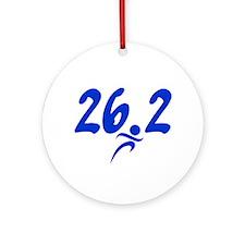 Blue 26.2 Marathon Ornament (Round)