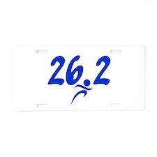 Blue 26.2 Marathon Aluminum License Plate