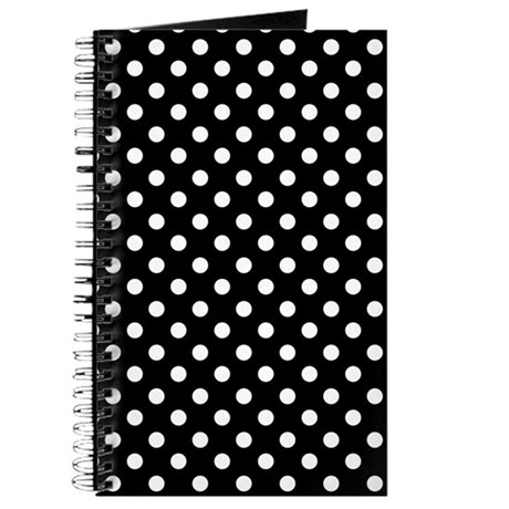 Black and White Polka Dot Journal
