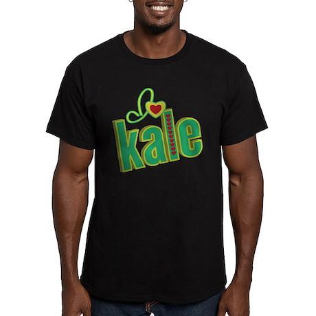 I heart kale Men's Fitted T-Shirt (dark)