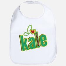 I heart kale Bib
