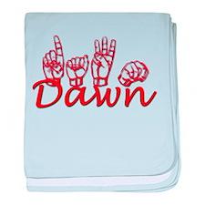 Dawn-rd baby blanket