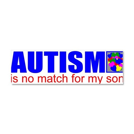 Autism won't stop my son Car Magnet 10 x 3