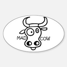 Mad Cow Oval Decal