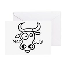 Mad Cow Greeting Cards (Pk of 10)