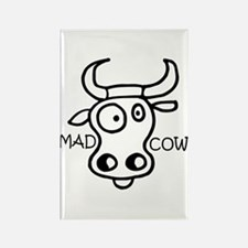 Mad Cow Rectangle Magnet