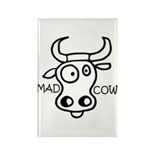 Mad Cow Rectangle Magnet (100 pack)