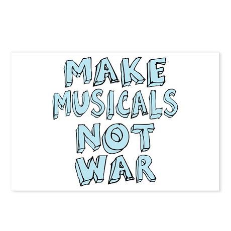 Make Musicals Not War Postcards (Package of 8)