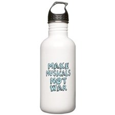 Make Musicals Not War Sports Water Bottle