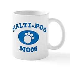 Malti-Poo Mom Blue Mug