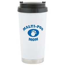 Malti-Poo Mom Blue Travel Mug