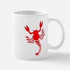 Red Scorpion Design Mug