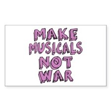 Make Musicals Not War Decal