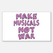 Make Musicals Not War Decal