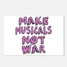 Make Musicals Not War Postcards (Package of 8)