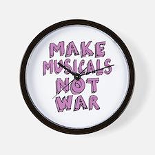 Make Musicals Not War Wall Clock