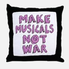 Make Musicals Not War Throw Pillow