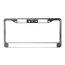 I love someone with autism 3 License Plate Frame