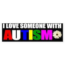 I love someone with autism 3 Car Car Sticker