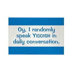 Random Yiddish Rectangle Magnet