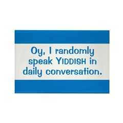 Random Yiddish Rectangle Magnet