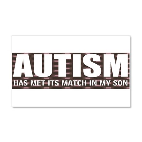 Autism meets its match Car Magnet 20 x 12