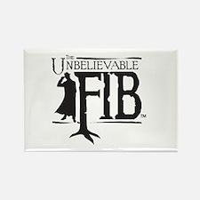 Black FIB logo Rectangle Magnet