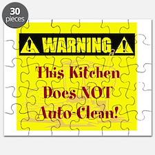Warning: No Auto-Clean Puzzle