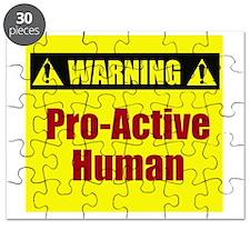 Warning: Pro-Active Human Puzzle