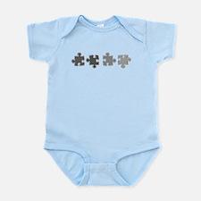 Chrome Line Puzzle Infant Bodysuit