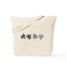 Chrome Line Puzzle Tote Bag