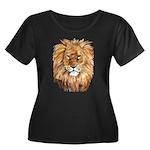 Lion Women's Plus Size Scoop Neck Dark T-Shirt