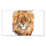 Lion Sticker (Rectangle 50 pk)