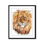 Lion Framed Panel Print