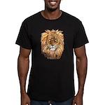 Lion Men's Fitted T-Shirt (dark)