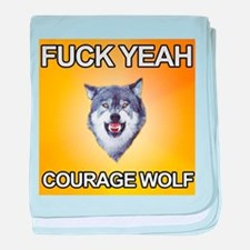 yeah courage wolf baby blanket