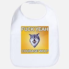 yeah courage wolf Bib