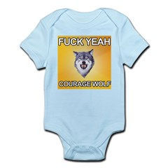 yeah courage wolf Infant Bodysuit