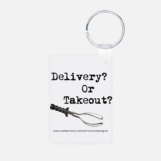 Delivery? Or Takeout? Aluminum Photo Keychain